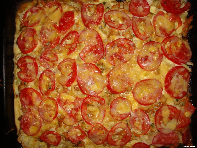 цветная капуста в духовке с сыром и помидорами